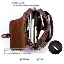 100% Genuine Leather Messenger Bag Model 1