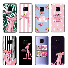 цена на RIGTFKY Cute Pink Panther Silicone Cases For Huawei Mate 20 Lite Case Cute Pig For Huawei Mate 20 Pro Soft TPU Back Cover