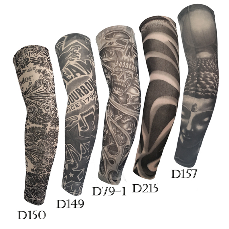 Ice Sleeve Summer Outdoor Running Unisex Sun Visor Protection Code High Elastic Breathable Tattoo Tattoo Print Arm Sleeve