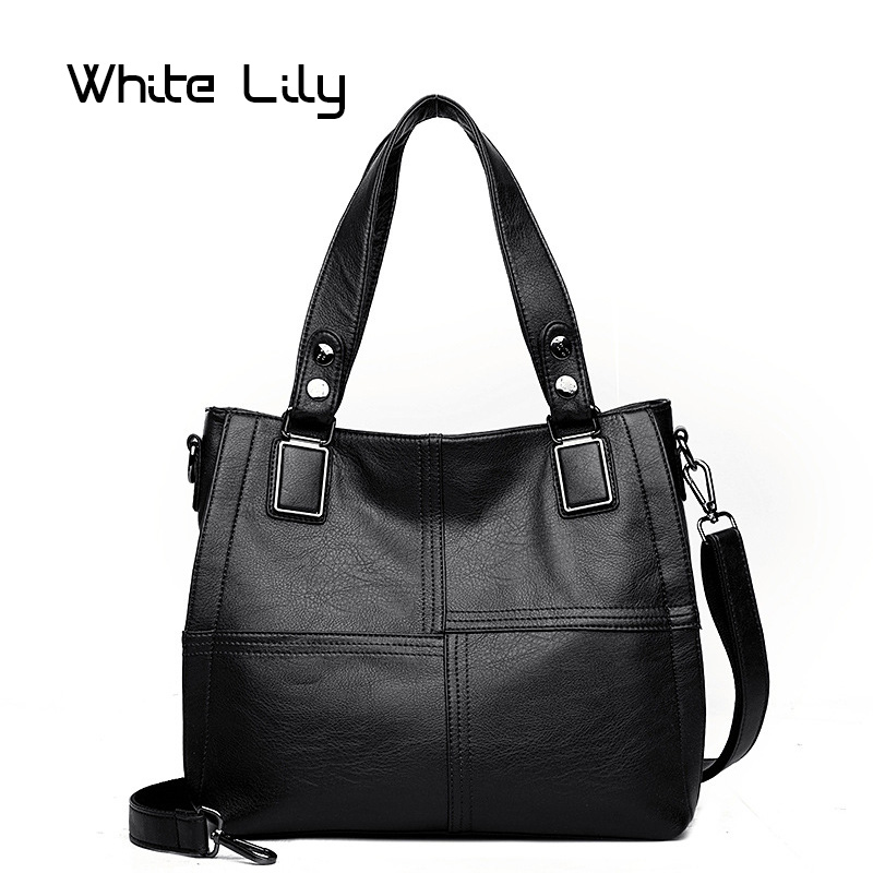 New Fashion Luxury Patchwork Women's Tote Bag Designer High Quality Soft PU Leather Handbag Ladies Shoulder Bag
