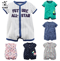 Summer Baby Boys Romper Cotton Short Sleeve Infant Rompers Jumpsuit Vestidos Meninas Roupas Bebes Newborn Bebe Baby Rompers