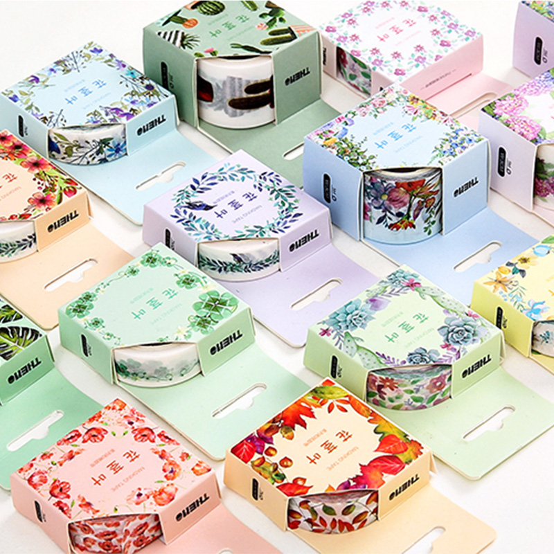15mm/30mm x 5/7m Plants beauty flowers washi tape DIY decorative scrapbook planner masking tape adhesive tape stationery 3cm 7m raining butterfly washi tape diy decorative scrapbook planner masking tape office adhesive tape stationery