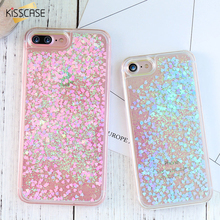 KISSCASE For iPhone 8 7 6 6S Plus Case Glitter Quicksand Mobile Phone Cover For iPhone 5 5S SE Cute Accessories Bag For iPhone 8