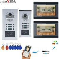 7 ''сенсорный экран wifi видео дверной телефон IP дверной звонок Домофон для строительства система контроля доступа поддержка ID Card/Android/iOS Телеф