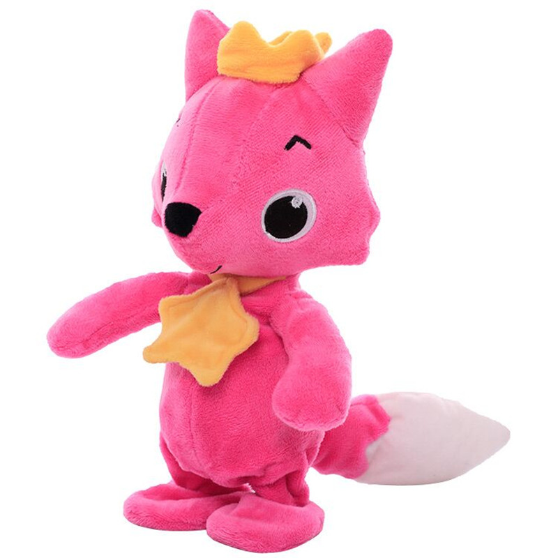 Drop Shipping Electric Walking Fox Plush Toy Stuffed Animal Toy Electronic Music Fox For Children Gifts Soft Dolls Cartoon Toys