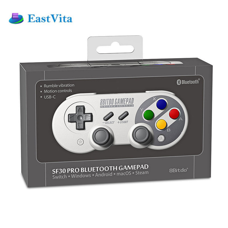 EastVita Wireless Bluetooth Gamepad 8Bitdo SF30Pro SN30Pro Game Controller For X-input D-input Mac mode For Nintendo Switch r30