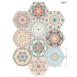 Hexagon DIY Anti-Slip Floor Sticker Waterproof Art Kitchen Bathroom Tiles Harmless Safety 1Set/10PCs Pattern Abstra Non slip