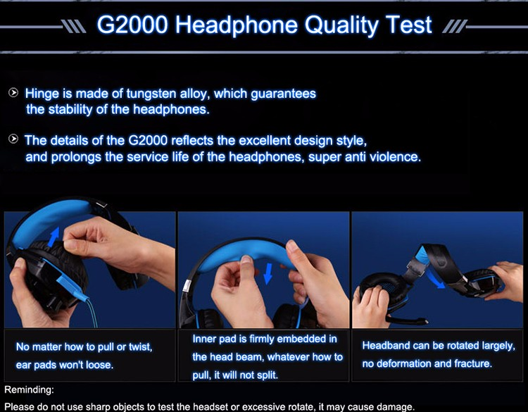 EACH G2000 Over-ear Gaming Headphone Headset Earphone With Mic Stereo Surrounded Bass LED Light For PC Game (29)