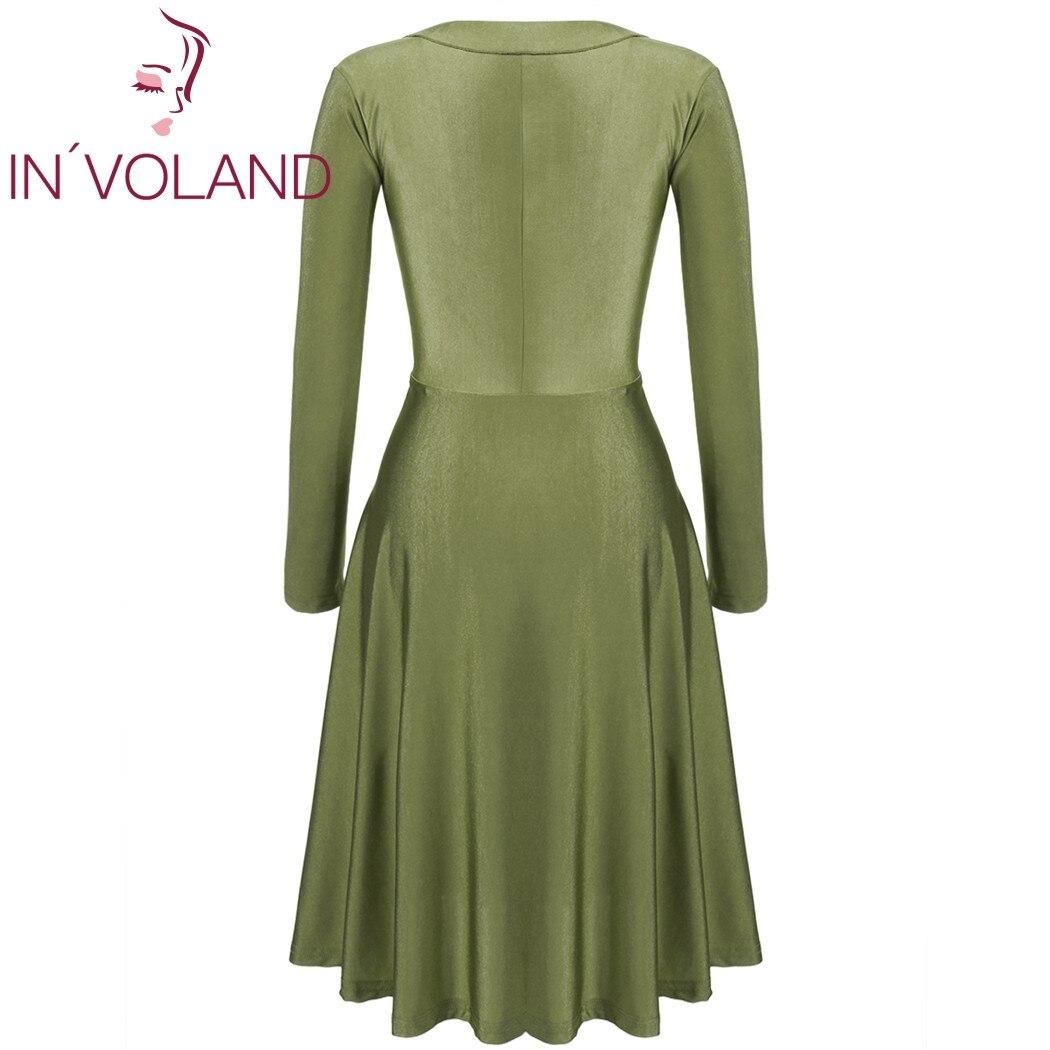 IN'VOLAND Vintage Dress Dress Plus Չափ կանանց համար - Կանացի հագուստ - Լուսանկար 5