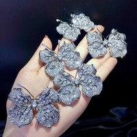office career unisex butterlfy brooch 925 sterling silver fine women and men jewelry free shipping leaf butterfly
