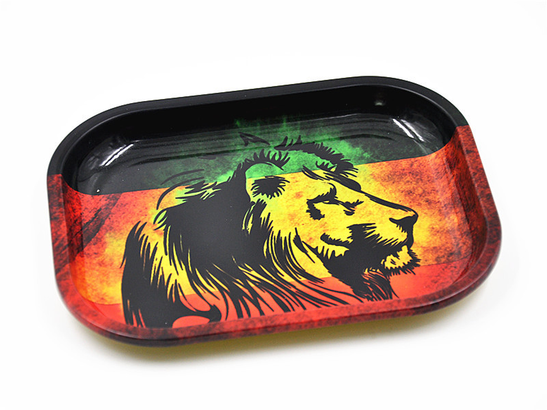 Plate Storage Square Tobacco Rolling Tray Storage Plate Discs For Smoking Weed Herb Grinder Cigarette Container Lighter Tray Box image
