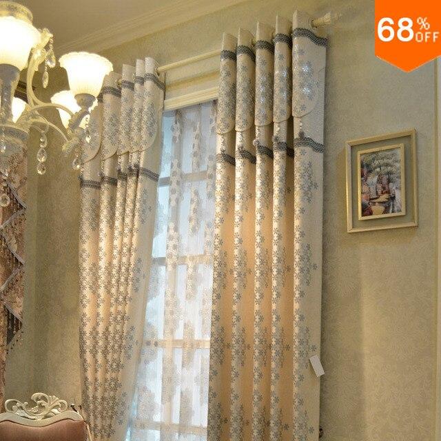 Style Or qualité blanc mode jacquard tissu rideau de luxe ...