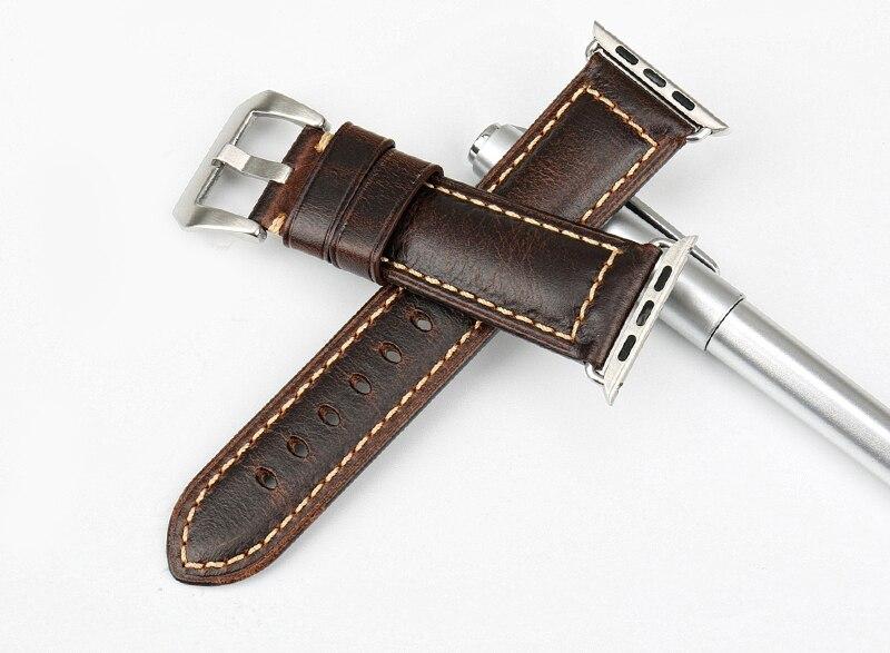 Bracelet en Cuir Véritable pour Apple Watch