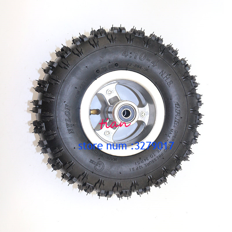 "4.10-4/"" rear Wheel Rim Tyre 49cc Mini Quad Dirt Bike ATV Buggy Scooter 3.50"