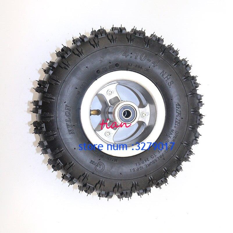 Freies Verschiffen 4,10/3,50-4 Reifen Räder 3,50/4,10-4 zoll Felge Reifen Reifen 49cc Mini Quad Dirt Bike Atv Buggy Neueste Technik Felgen