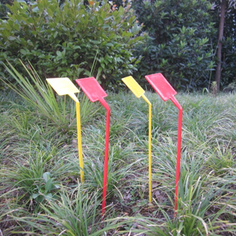 5Pcs Plastic T Type Upturned Plant Labels Tags Marker Seedl Nursery Garden  Stick