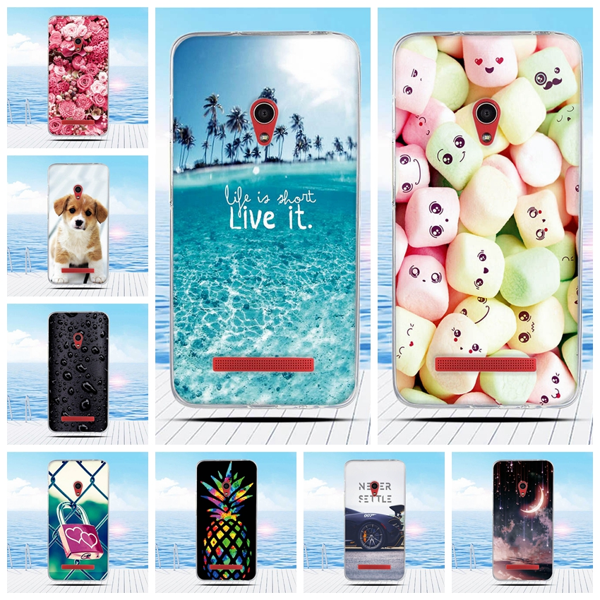 For <font><b>Asus</b></font> <font><b>ZenFone</b></font> <font><b>5</b></font> A500CG <font><b>A501CG</b></font> A500KL <font><b>Case</b></font> Cartoon 3D Relief Printing Pattern Back Cover TPU Soft Silicone Coque Capa Funda image