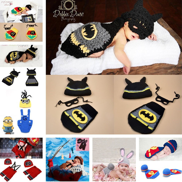 2018 Latest Crochet Baby Hats Photo Props Animal Designs Infant Baby Photography Porps Costume Knitted Hat&Caps 1pc MZS-14049