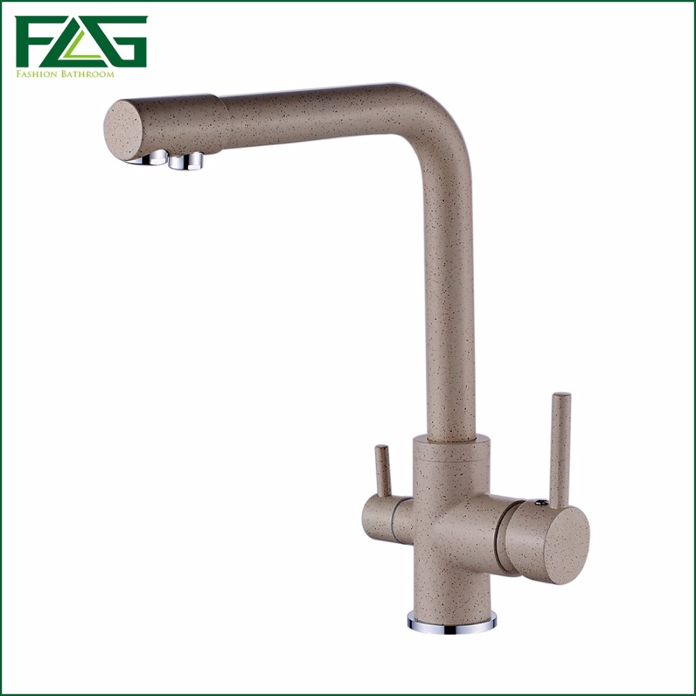 online get cheap kitchen water filter faucet aliexpress com flg 100 brass marble painting swivel drinking water faucet 3 way water filter purifier kitchen