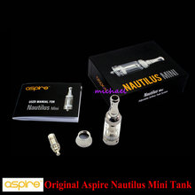 100% original aspire nautilus mini tank kit 2.0 ml inferior vertical bobina bvc glassomizer tanque para cigarrillo electrónico clearomizer
