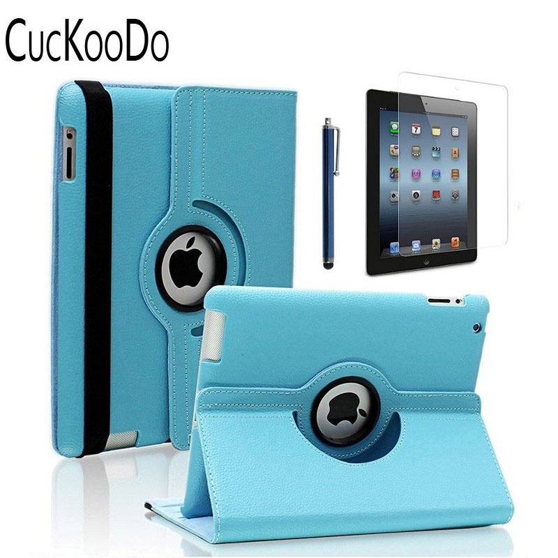 ipad 4th For The New Ipad 3 & Ipad 2 Removing Obstruction Intellective Cuckoodo 360 Degree Rotating Stand Smart Case Cover For Ipad With Retina Display