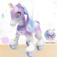 Electric Smart Horse Remote Control Unicorn Children\'s New Robot Touch Induction Electronic Pet Educational Toy