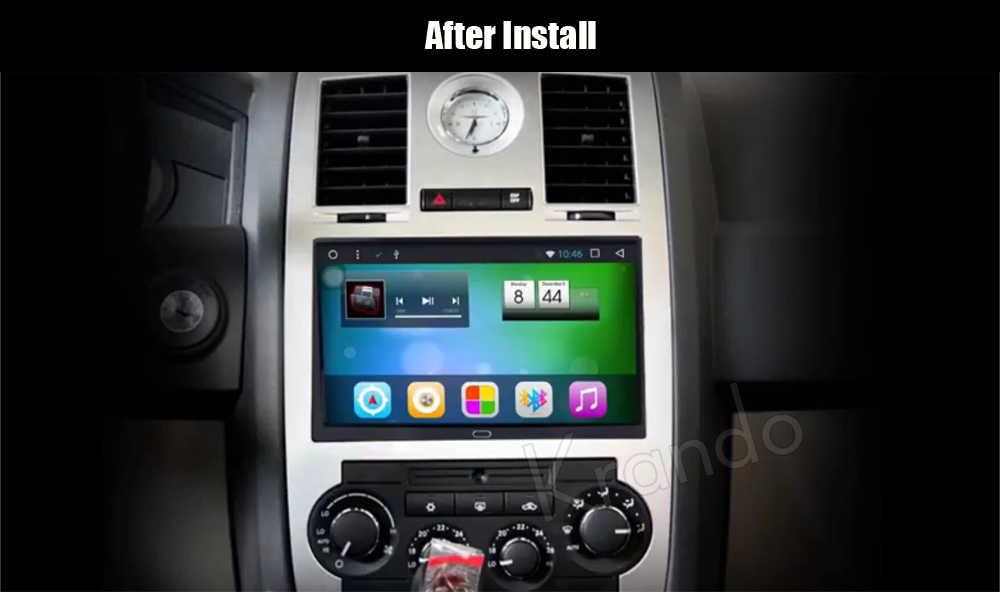 """Krando Android 8.1 9 """"Radio Đồng Hồ Định Vị GPS Cho Xe Jeep Grand Cherokee 2004-2010 Cho Chrysler 300C 2004- 2008 Điều Hướng Đa Phương Tiện Hệ Thống"""