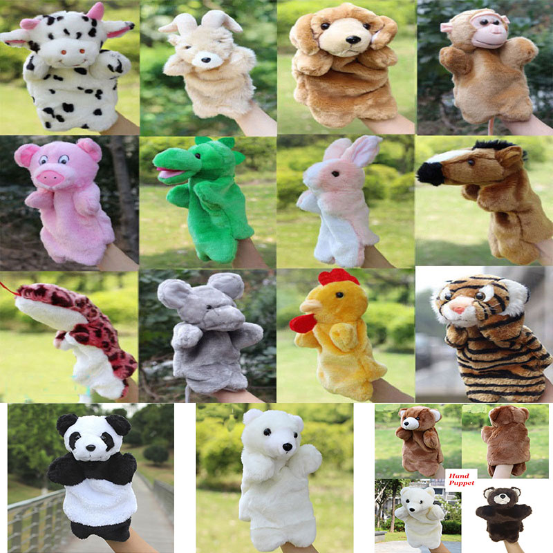 Practical Simulation Animals Bear Panda Pig Hand Puppet Stuffed Plush Handpop Marioneta Doll Learning Education Marionette Puppets Muppets To Be Distributed All Over The World Toys & Hobbies Dolls & Stuffed Toys