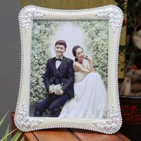 White Rose Photo Frame 7 10 Inch Crystal Plating Process Frame Creative Wedding Photo Frame Personal