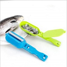 1Pcs kitchen tool cleaning fish skin steel fish scales brush shaver Remover Cleaner Descaler Skinner Scaler fishing tools