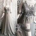 Бесплатные корабль серый/розовый/черный цветок вышивка долго средневековом платье сисси принцесса Средневековый Платье Ренессанс Викторианской Belle бал