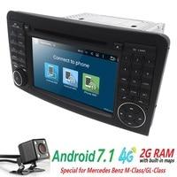Groothandel! 2 Din 7 Inch Android 7.1 Auto Dvd-speler Voor Mercedes Benz/ML/GL KLASSE W164 ML350 ML500 GL320 Canbus 4 GWifi GPS Radio
