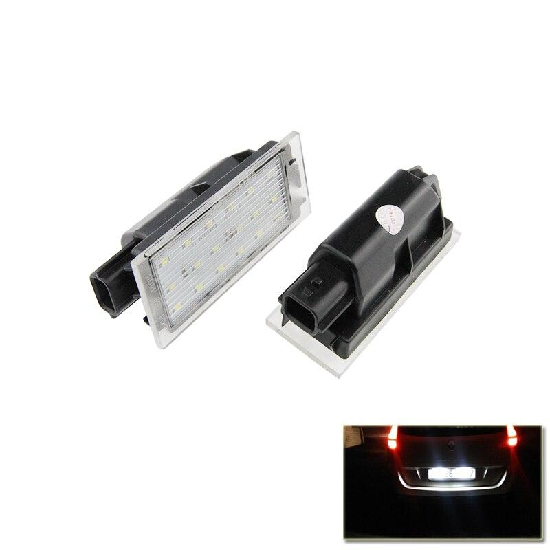 Remplacement Direct Lampe Pour Renault Clio Megane Twingo II Lagane II5D Vel Satis Maître Blanc Voiture Led Nombre de Plaque D'immatriculation lumières