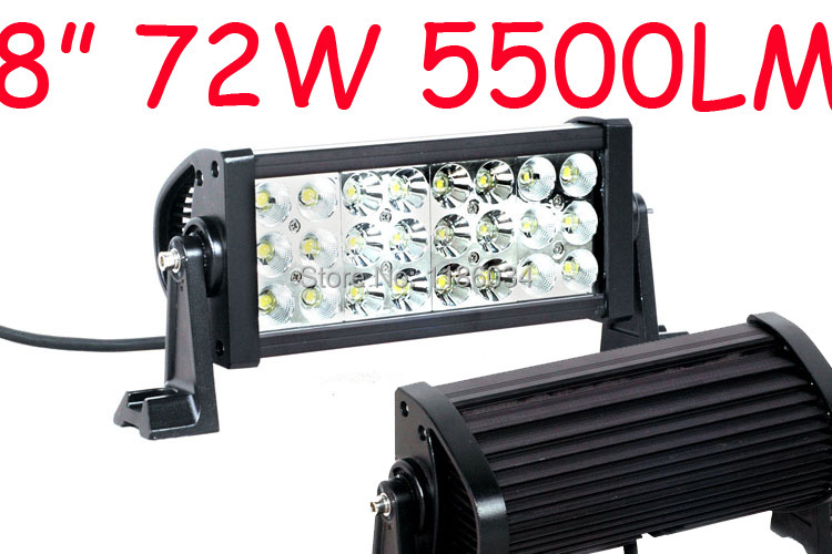Free DHL ship!1pcs/set,8inch 72W 5500LM 10~30V,6500K,LED working bar,Boat,Bridge,Pajero light,Truck,SUV Offroad car,4x4,black! зимняя шина nokian hakkapeliitta 8 suv 265 50 r20 111t