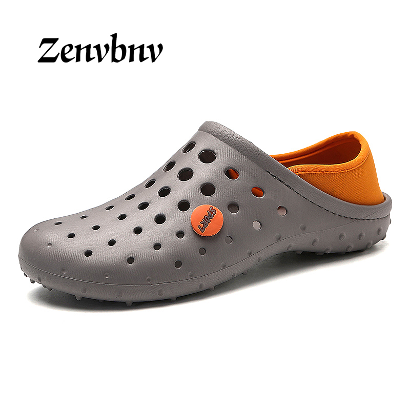 ZENVBNV Slip On Spring Mens Sandals Lightweight Height Increag Male Casual Beach Water Sandals Soft White Men Outdoor Water Shoe