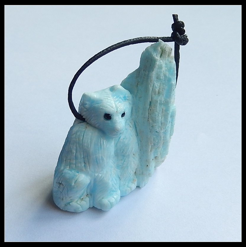 Sale 1Pcs Natural Stone Carved So Cute Animal Side Drilled Necklace Pendant 48x42x25mm 47.5g съёмник шаровых опор шарнирных соединений с рычагом kraft cr v kt 701025