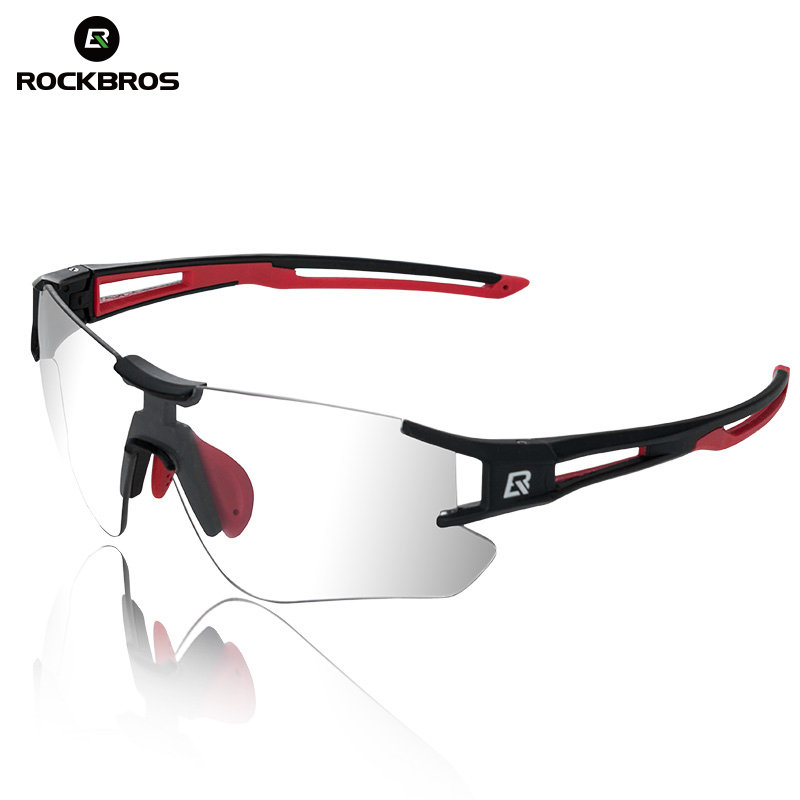 ROCKBROS Photochromic Cycling Bicycle Sunglasses Running Camping Hiking Glasses Sports Men Eyewear UV400 Sun Glasses Goggles rockbros polarized photochromic cycling glasses bike glasses outdoor sports bicycle sunglasses goggles eyewear with myopia frame