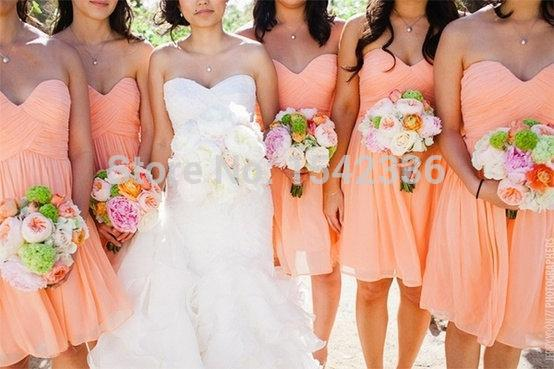 Short Beach Bridesmaid Dresses 2016 Orange Blue Pink Maid Of Honor Under 80 Wedding Party Dress F660 In From