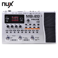 NUX MG 20 Guitar Modeling Processor Drum Pattern Switch Pedal 60 Effect Models 36 User Presets36 Factory Presets