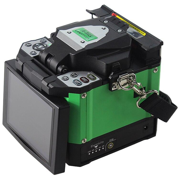 Máquina empalmadora de fusión automática A-80S verde máquina empalmadora de fusión de fibra óptica máquina de empalme de fibra óptica máquina de soldadura óptica