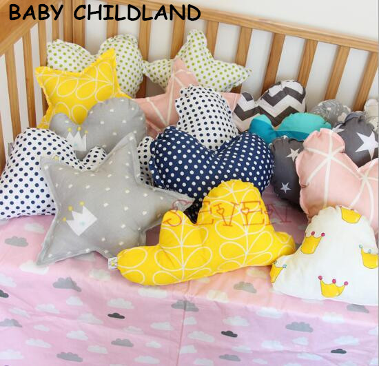 baby pillow Kids Educational Cushion cotton star cloud baby room decoration newborn crib bumper Bed Doll baby photography props