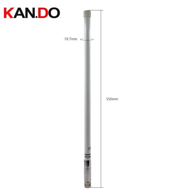 700-2700 MHZ antenne omnidirectionnelle en fiber de verre 6DBI N-J antenne mâle à gain élevé 55 cm hauteur 2g 3g 4g antenne pour booster routeur