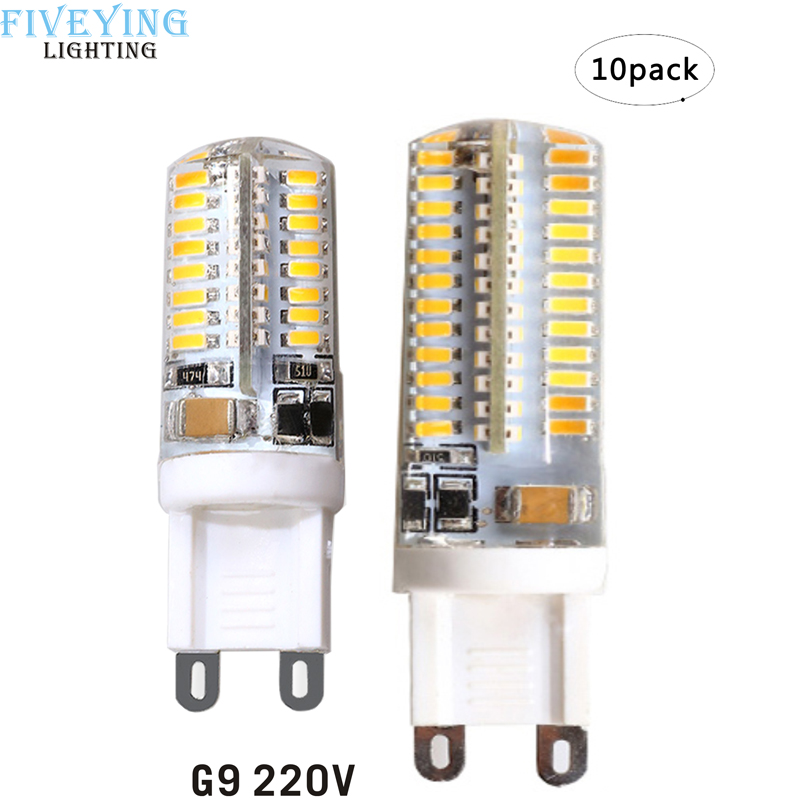 G9 LED Lamp 5W 7W Corn Bulb AC 220V SMD 3014 64 104leds Lampada LED light 360 degrees Replace Halogen Lamp