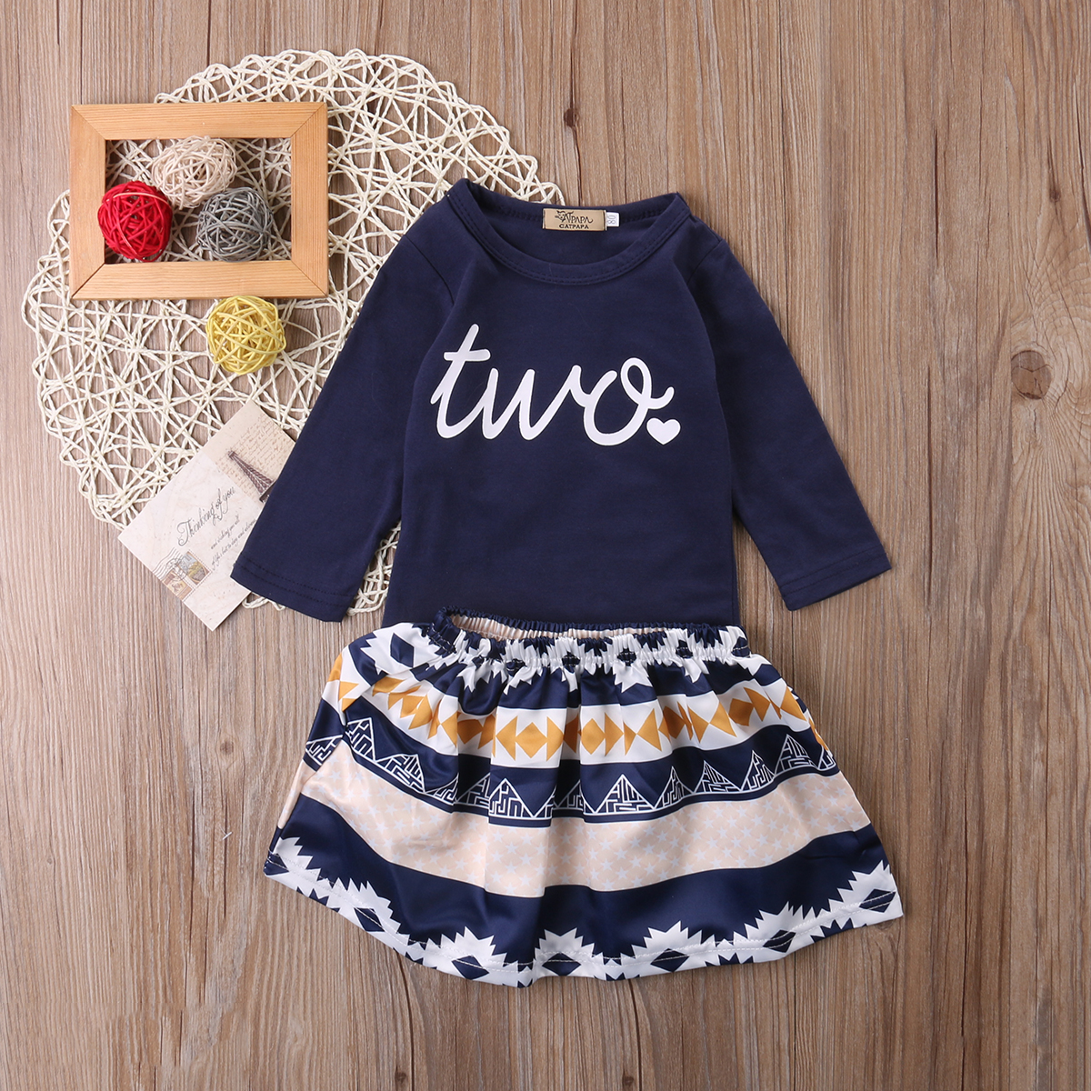 Cute Girls Clothing Set Toddler Kids Baby Girls Outfits Clothes Long Sleeve T-shirt Tops Skirt Dress Elastic Tutu Skirt