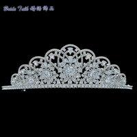Nuevo magnífico espumoso completo AAA CZ tiara princesa hecha a mano Royal Crown mujeres boda Bisutería para pelo Pageant headpiece tr15207