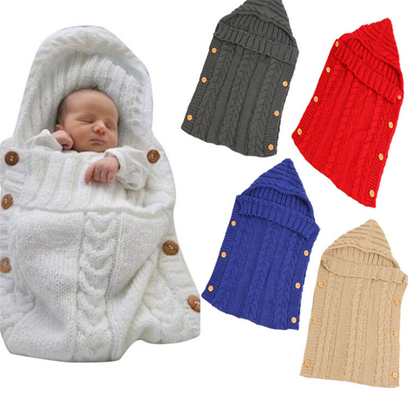 72cm X 35cm Baby Swaddle Baby Bedding Sleepsacks Newborn Baby Sleeping Bag Knitted Sleeping Bags Warm Envelope For Newborn