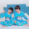 Flannel pajamas for children 2016 winter boys Girls Coral fleece long sleeved warm pyjamas child Home sets kids Christmas gift