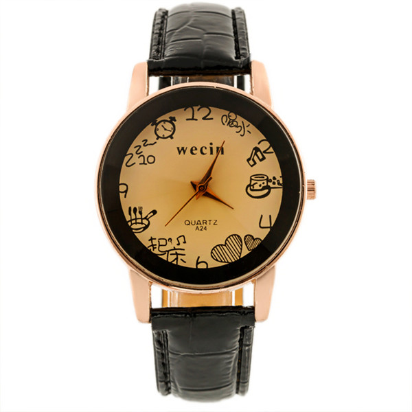 Luxury Brand PU Leather Quartz Clock Business Dress Wrist Watch Gift for Men Women Unisex Animation Watches classic luxury formal unisex dress quartz men women wrist watch rose golden metallic strap decorational subdial gift box
