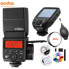 Godox V350F TTL HSS 1/8000s Speedlite Flash Built-in 2000mAh Li-ion Battery with Xpro-F Transmitter for Fujifilm Fuji Camera godox v350n mini flash ttl hss 1 8000s 2 4g x system built in 2000mah li ion battery camera speedlite flash for nikon camera