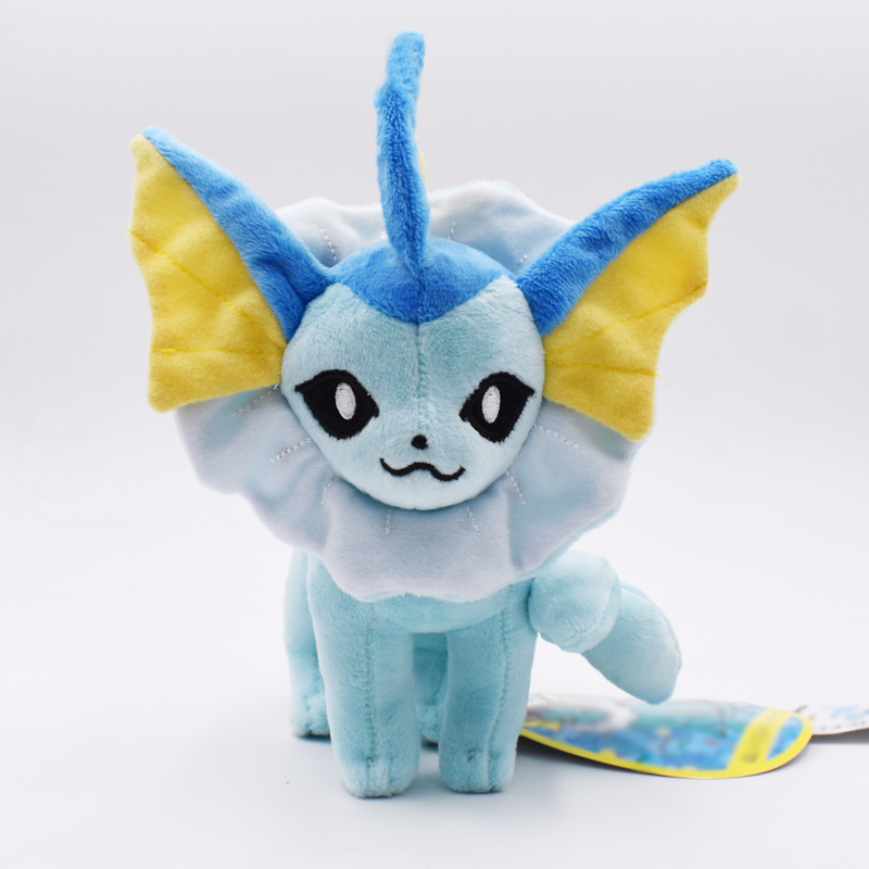15-18cm Standing Vaporeon Plush Toy Eevee Peluche Doll Soft toy Classic Plush Toys Christmas Gifts Free Shipping